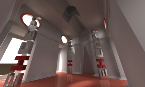 LightWave Radiosity Test Scene